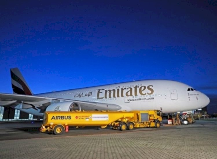 Airbus A380 number 116 flies into Emirates fleet, this time powered partially by biofuel
