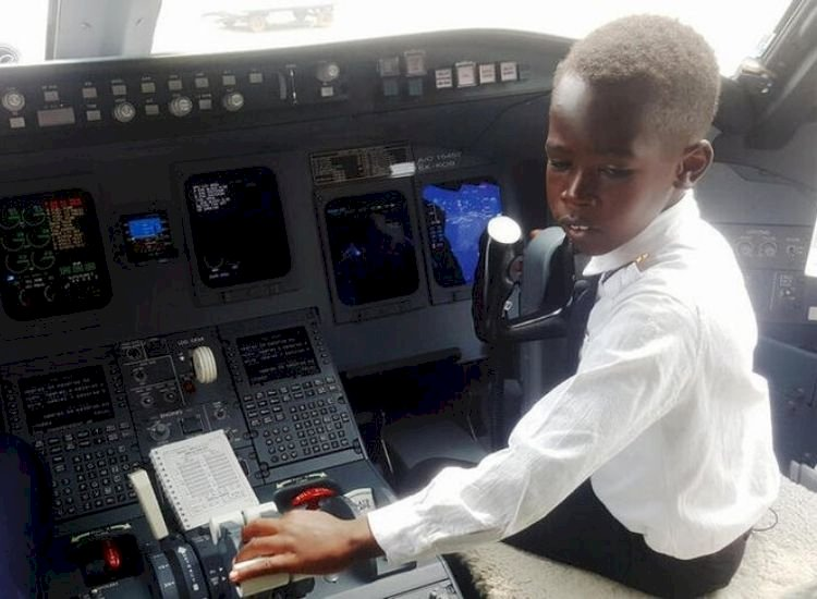 Believe it or not! 7-year-old Ugandan boy flies aircraft, wants to travel to Mars